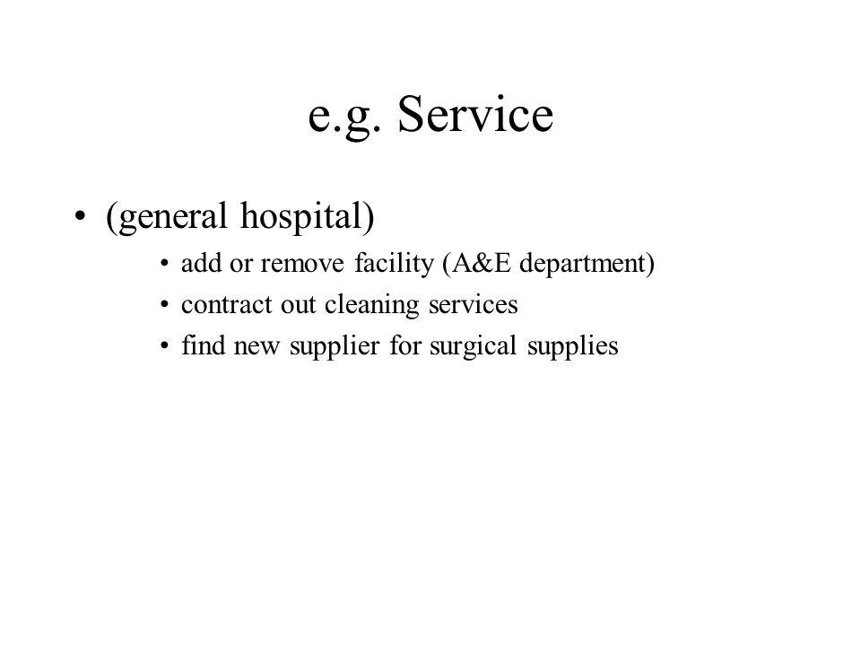 e.g. Service (general hospital)