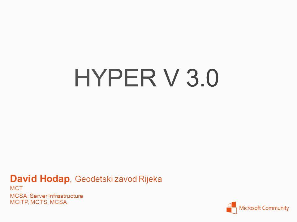 HYPER V 3.0 David Hodap, Geodetski zavod Rijeka MCT