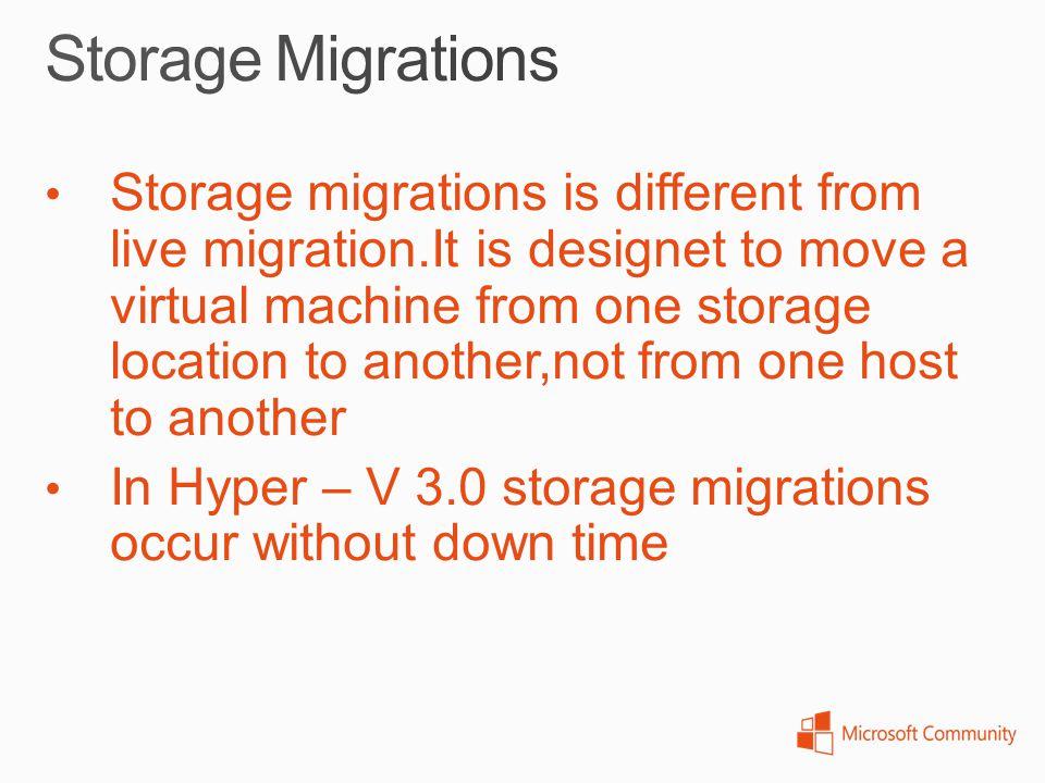 Storage Migrations
