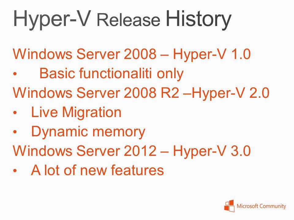 Hyper-V Release History