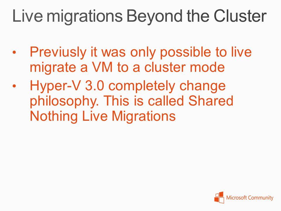 Live migrations Beyond the Cluster