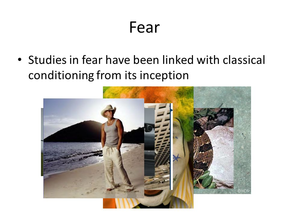 Fear Studies in fear have been linked with classical conditioning from its inception