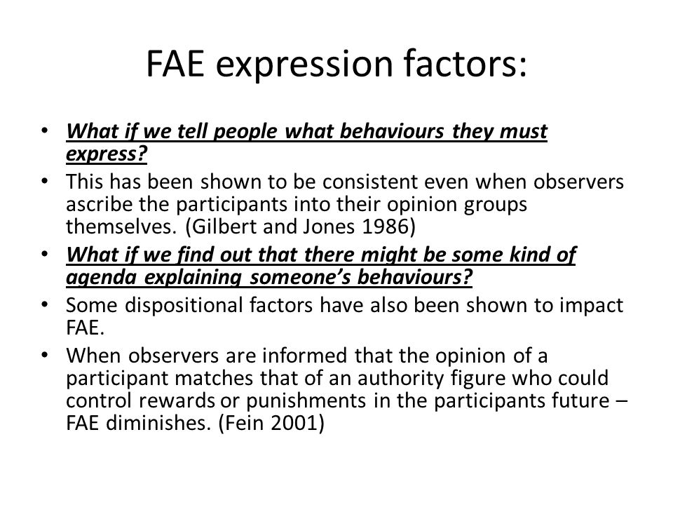 FAE expression factors: