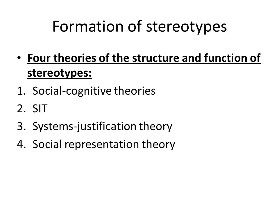 Explain the formation of stereot