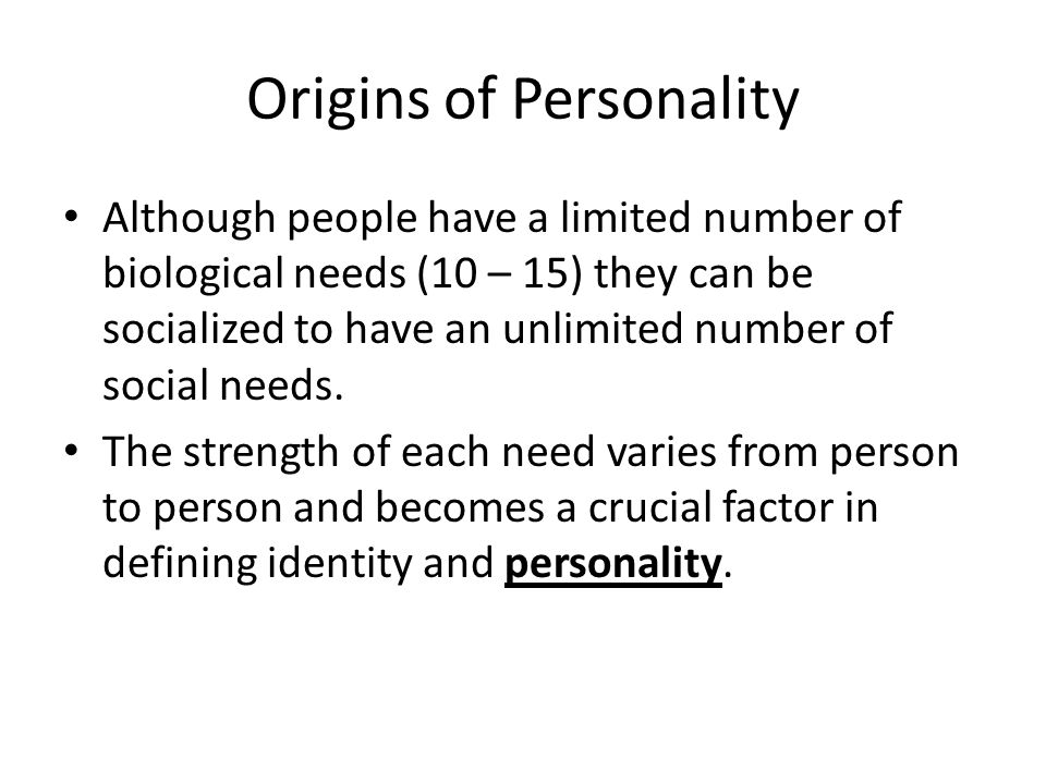 Origins of Personality