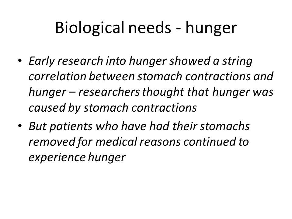 Biological needs - hunger