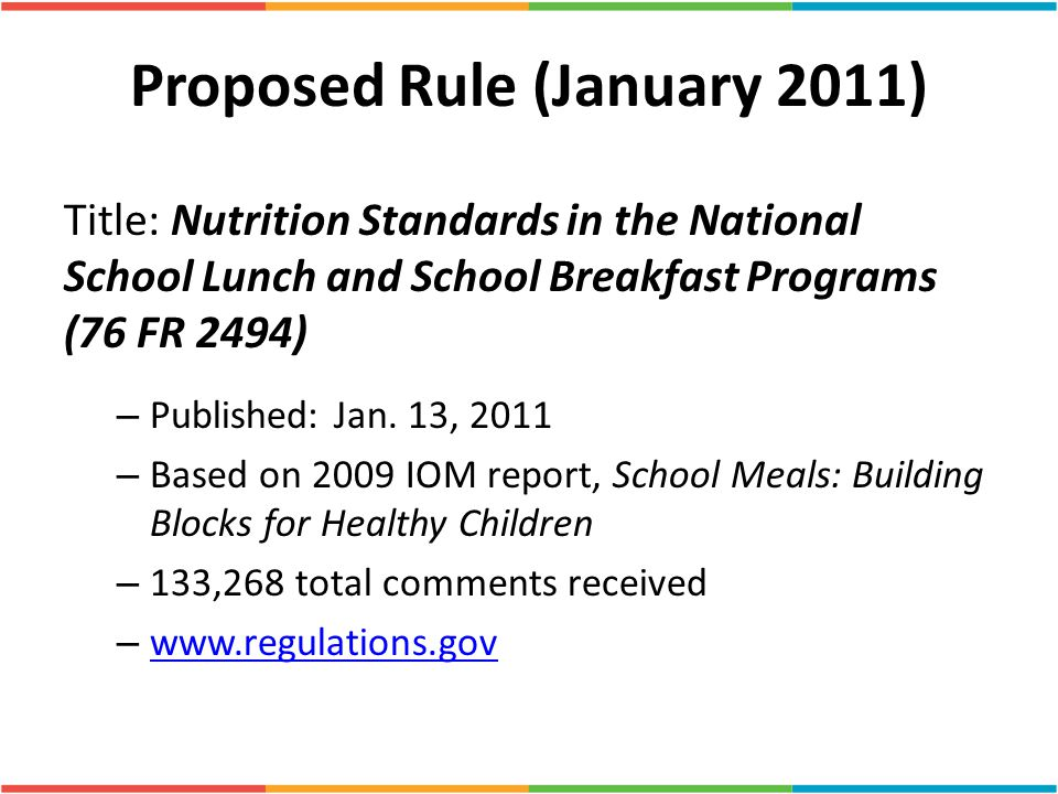 Proposed Rule (January 2011)
