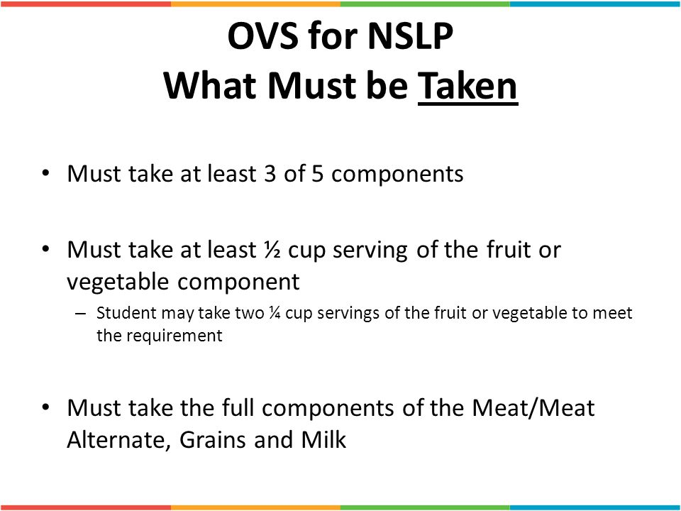 OVS for NSLP What Must be Taken