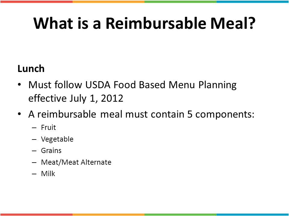 What is a Reimbursable Meal