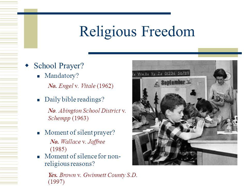 Religious Freedom School Prayer Mandatory Daily bible readings