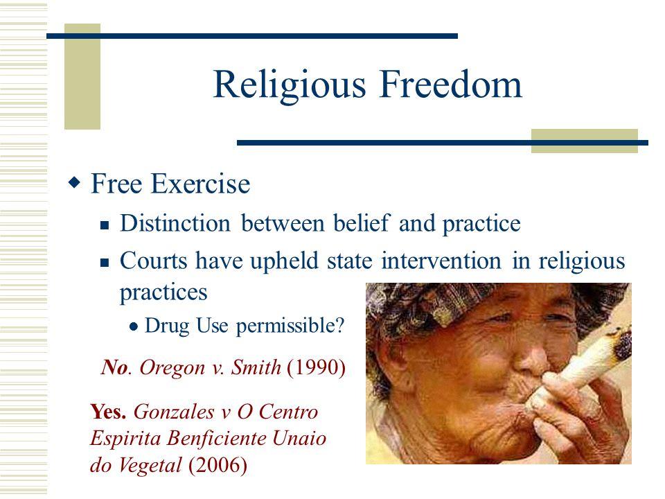Religious Freedom Free Exercise