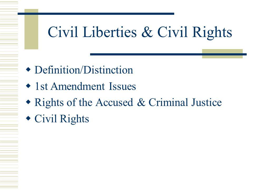 Civil Liberties & Civil Rights