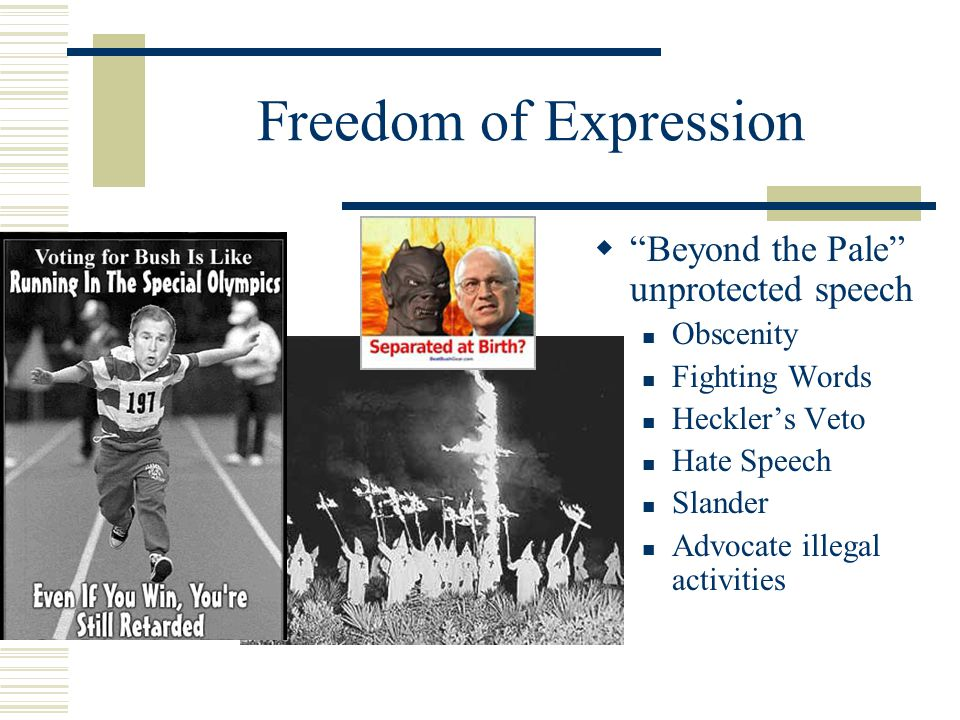 Freedom of Expression Beyond the Pale unprotected speech Obscenity