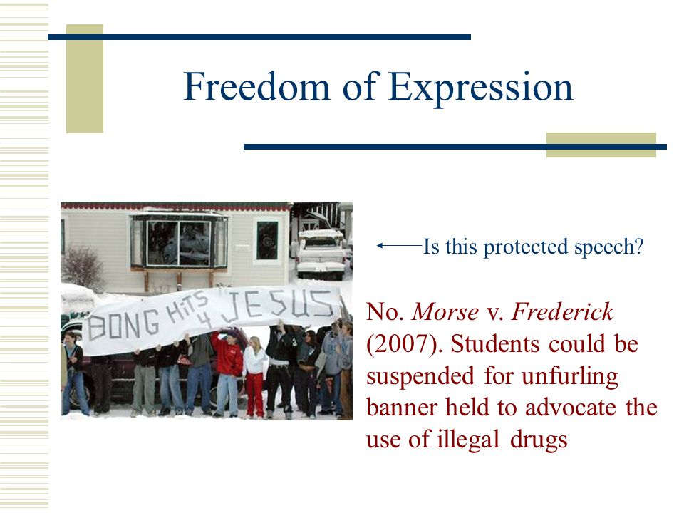 Freedom of Expression Is this protected speech