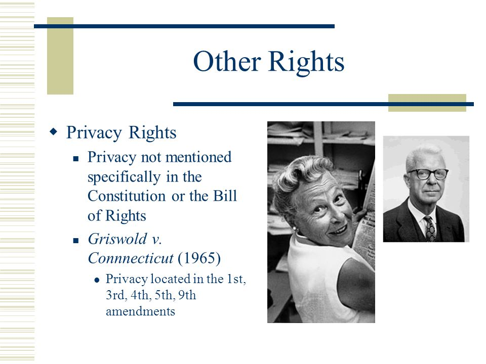 Other Rights Privacy Rights