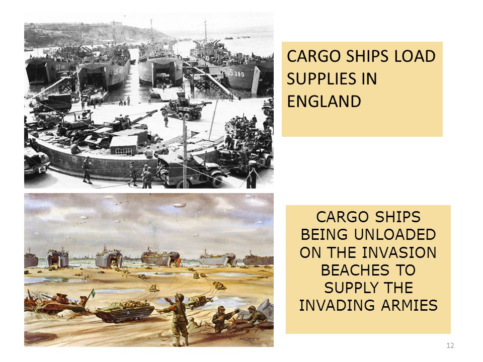 CARGO SHIPS LOAD SUPPLIES IN ENGLAND