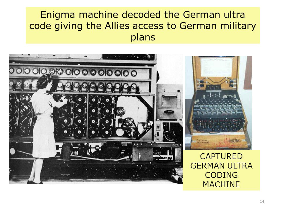 CAPTURED GERMAN ULTRA CODING MACHINE