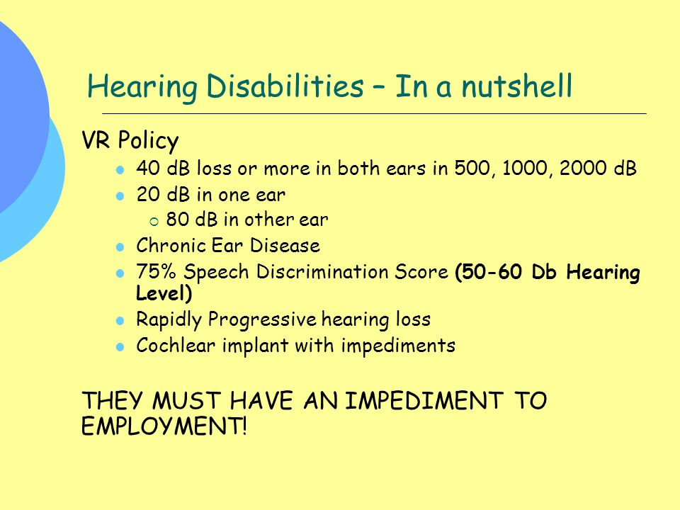 Hearing Disabilities – In a nutshell