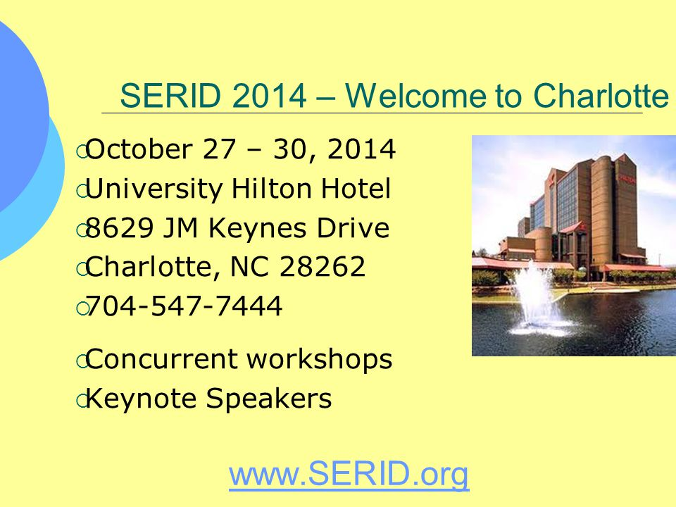 SERID 2014 – Welcome to Charlotte