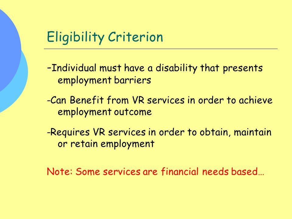 Eligibility Criterion
