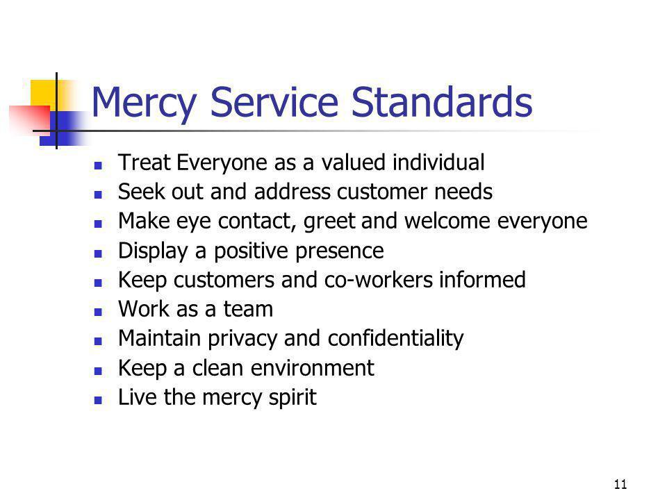 Mercy Service Standards