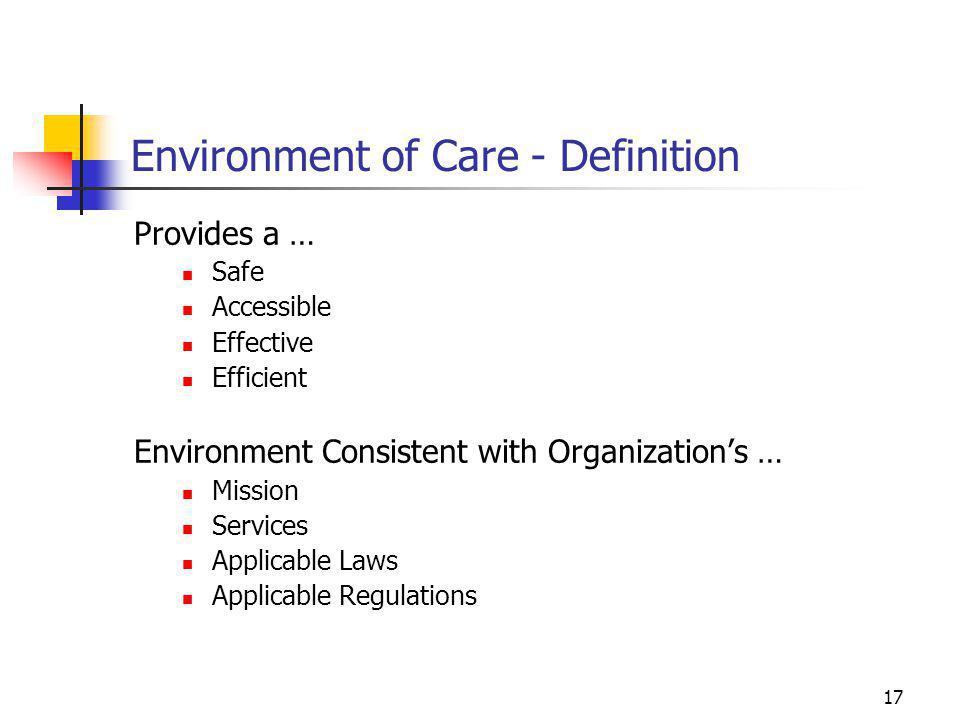 Environment of Care - Definition