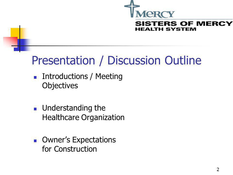Presentation / Discussion Outline