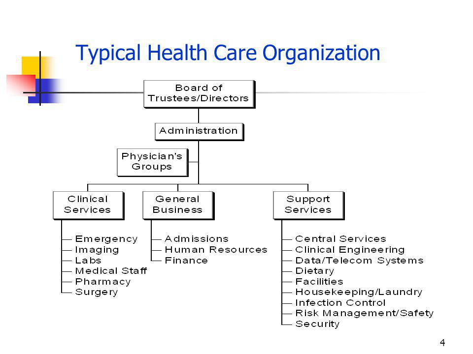 Typical Health Care Organization