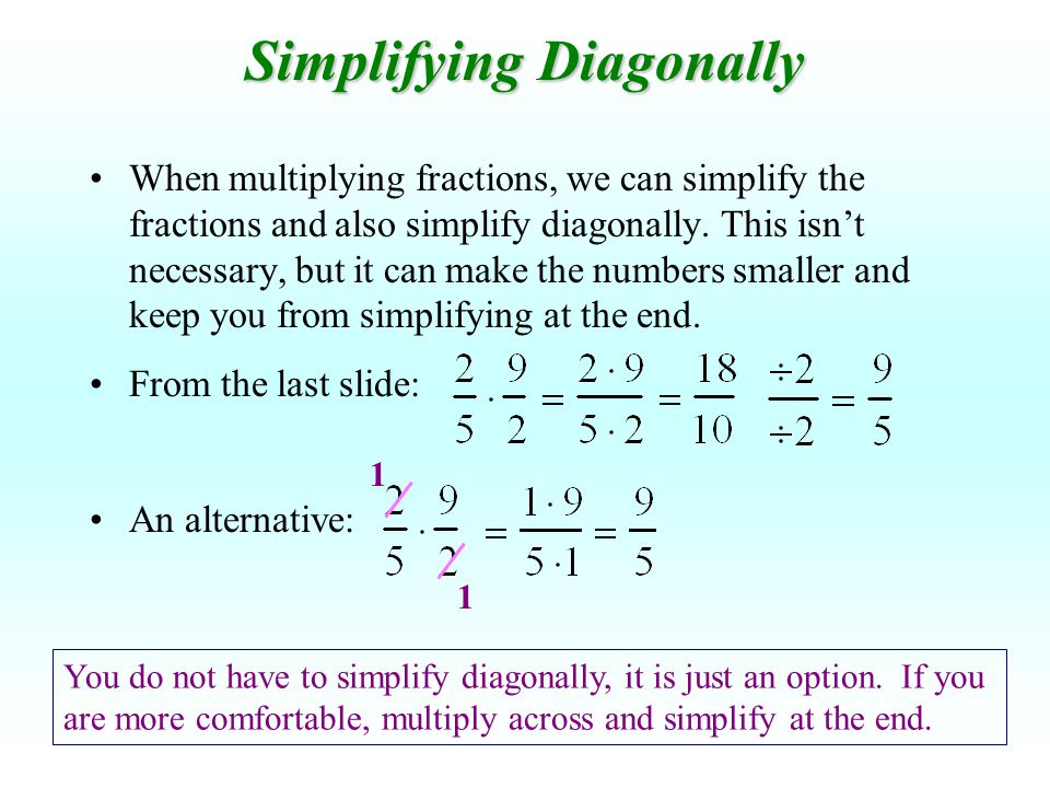 Simplifying Diagonally