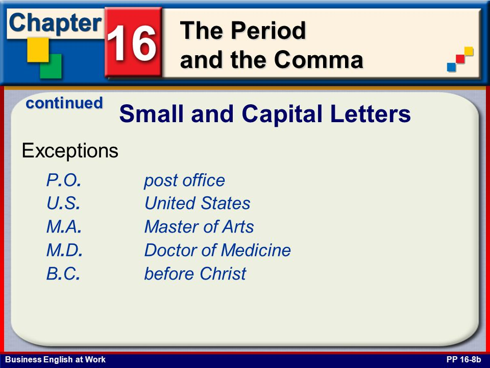 Small and Capital Letters