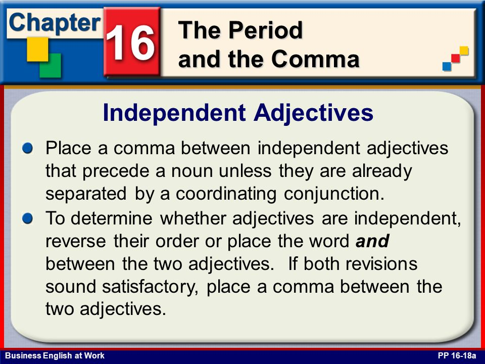 Independent Adjectives