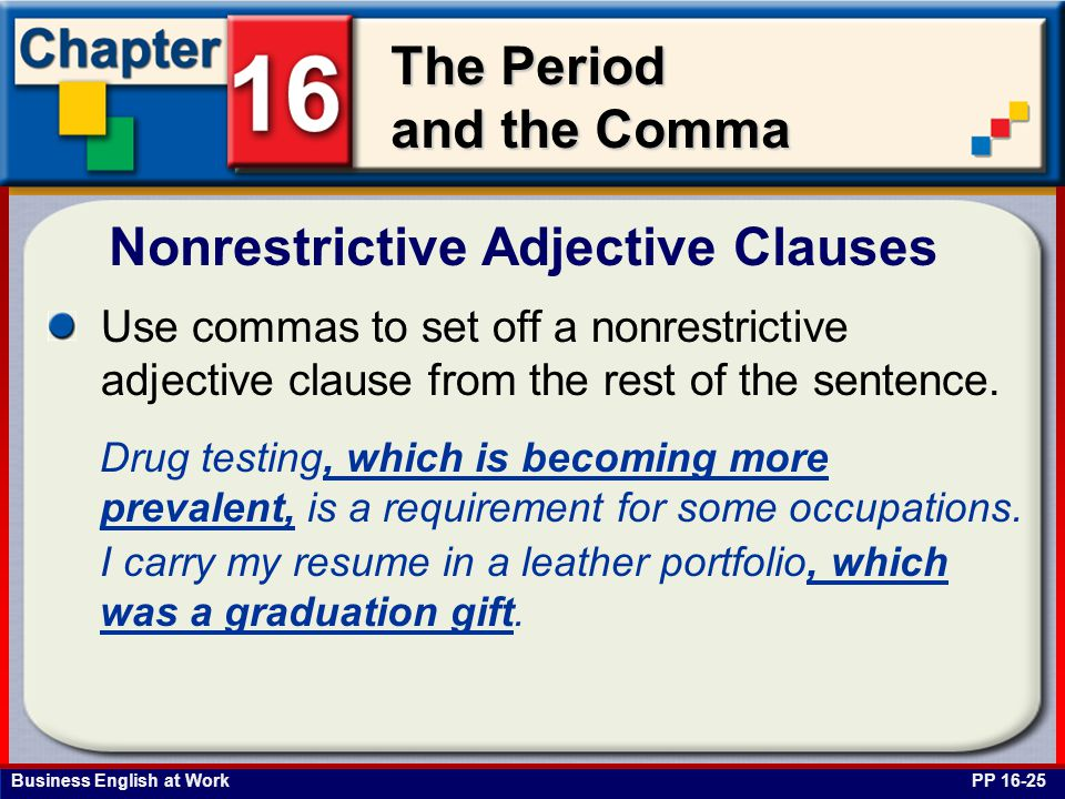 Nonrestrictive Adjective Clauses