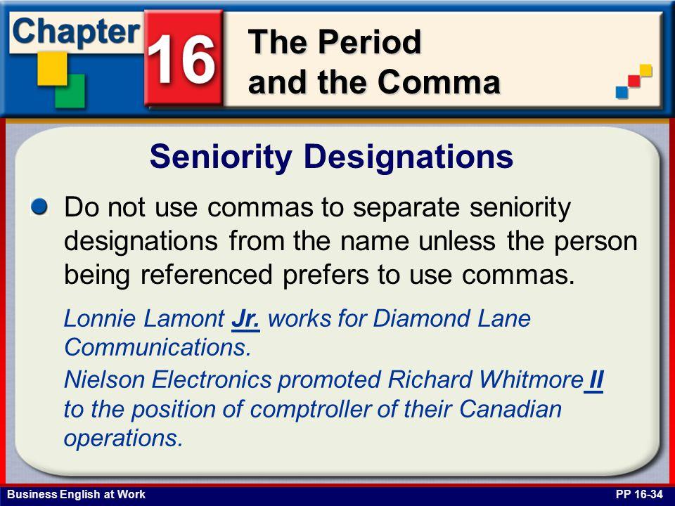 Seniority Designations