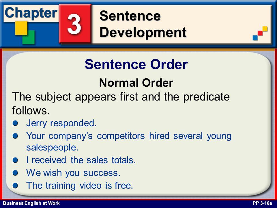 Sentence Order Normal Order