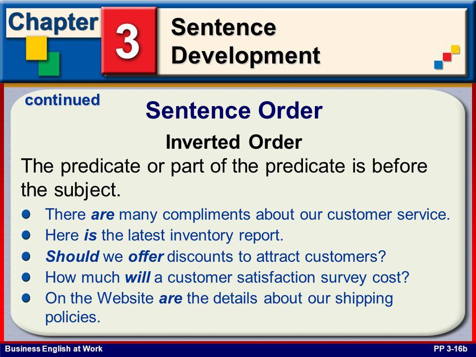 Sentence Order Inverted Order