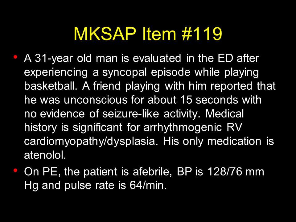 MKSAP Item #119