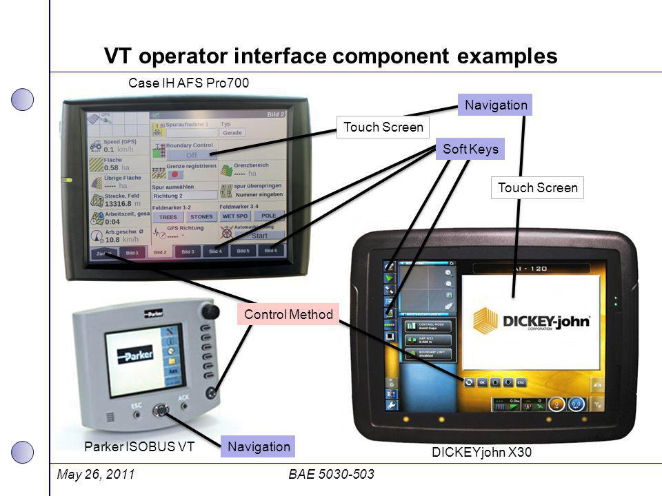 VT operator interface component examples