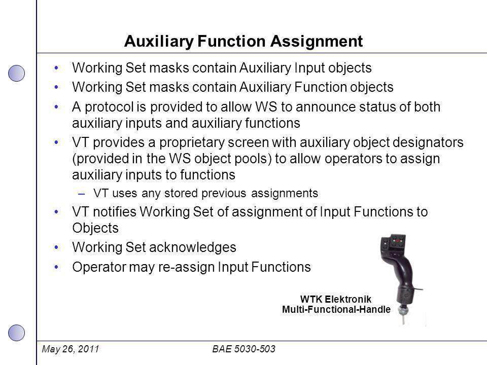 Auxiliary Function Assignment