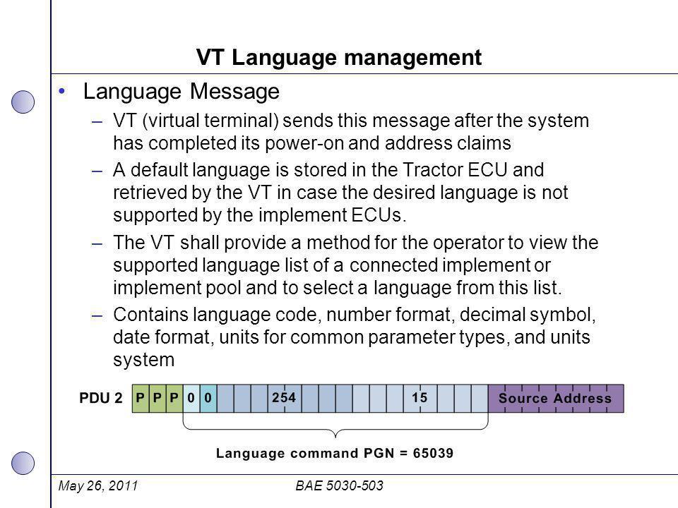 VT Language management