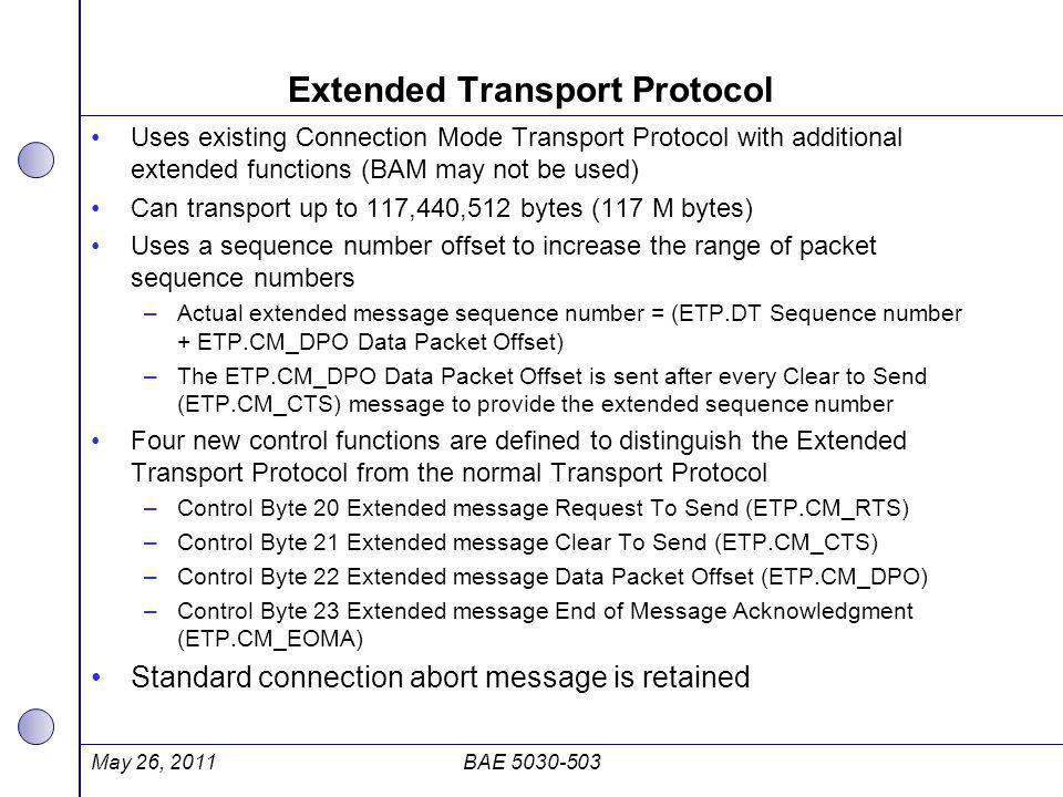 Extended Transport Protocol