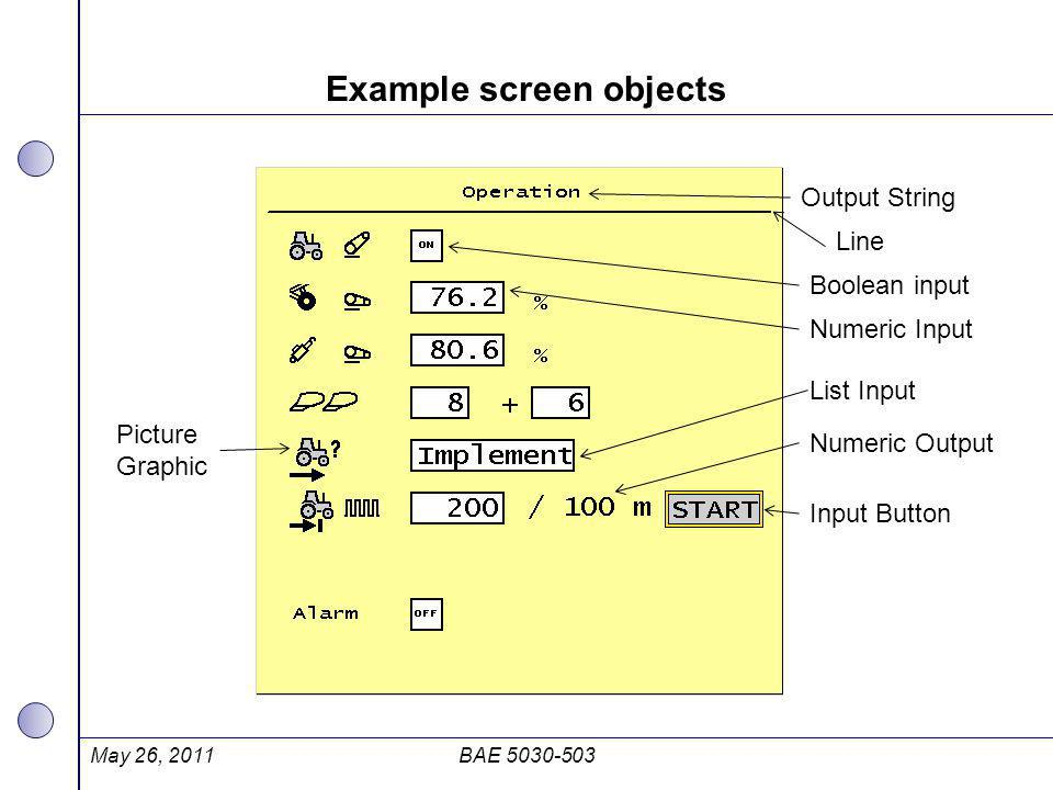 Example screen objects