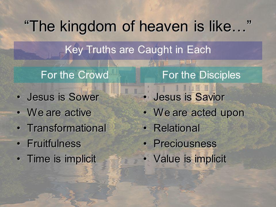 The kingdom of heaven is like…