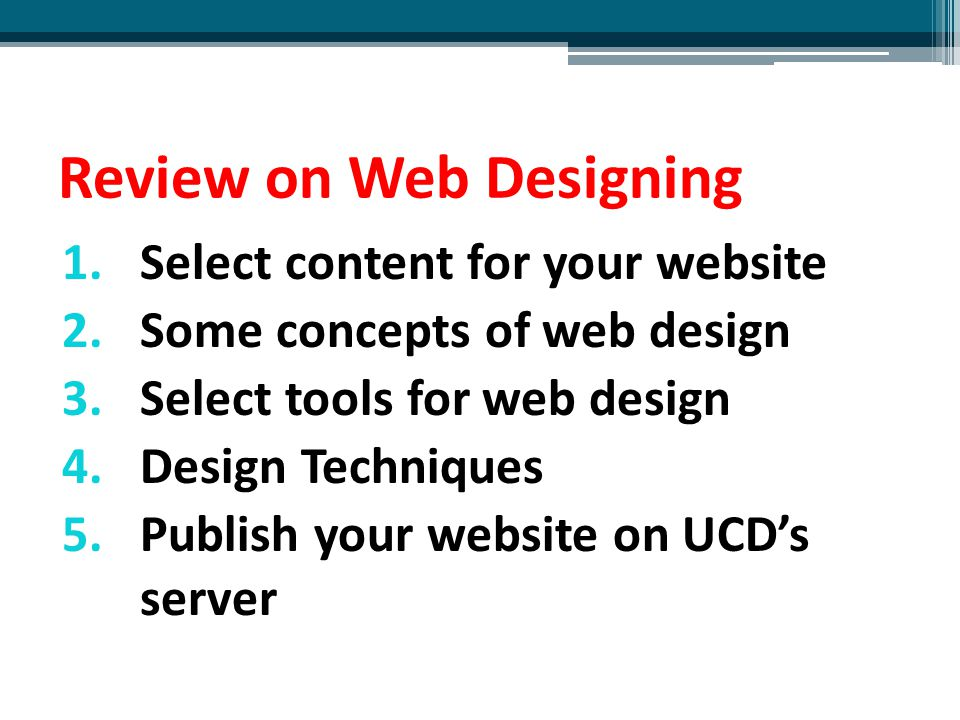 Review on Web Designing