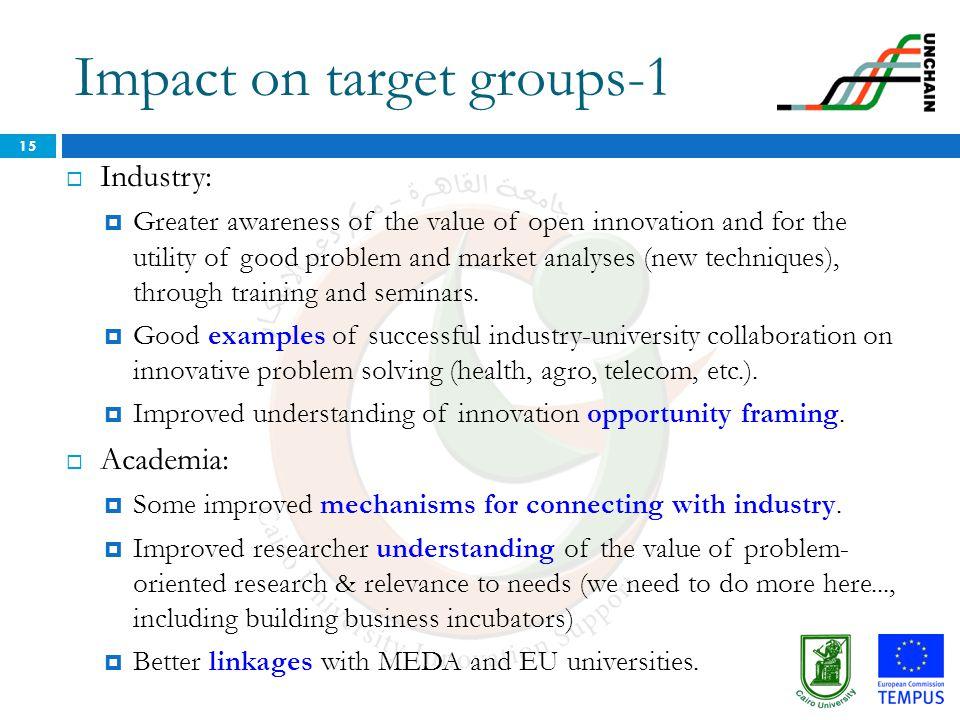 Impact on target groups-1