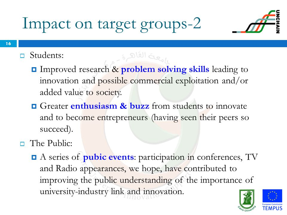 Impact on target groups-2