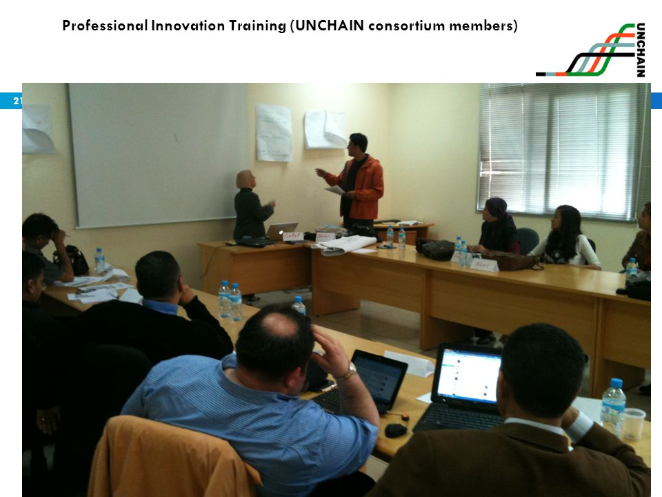 Professional Innovation Training (UNCHAIN consortium members)