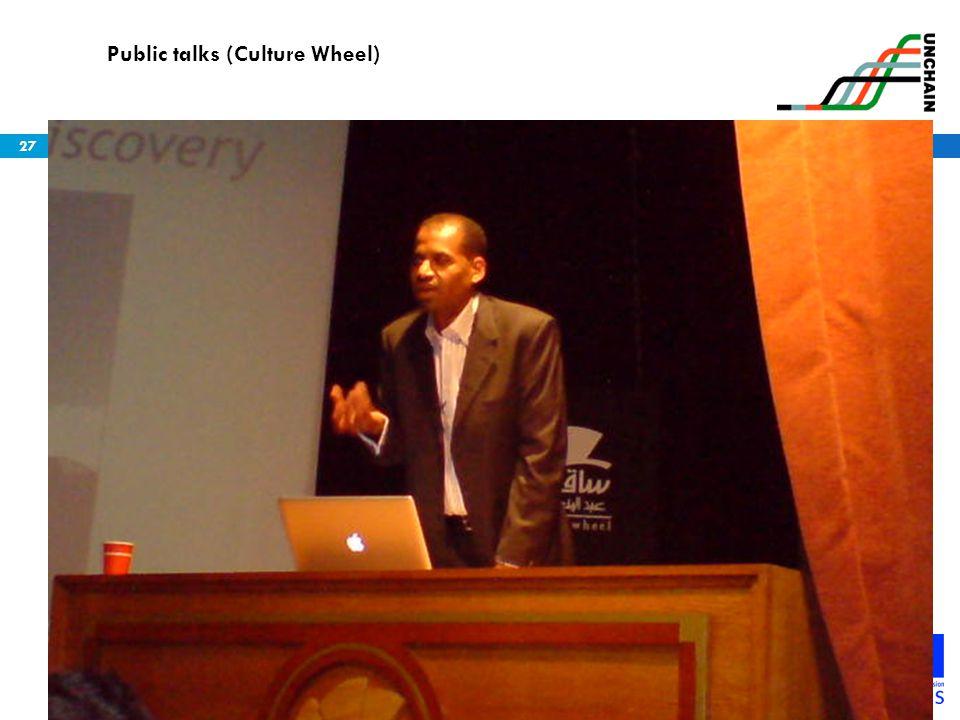Public talks (Culture Wheel)