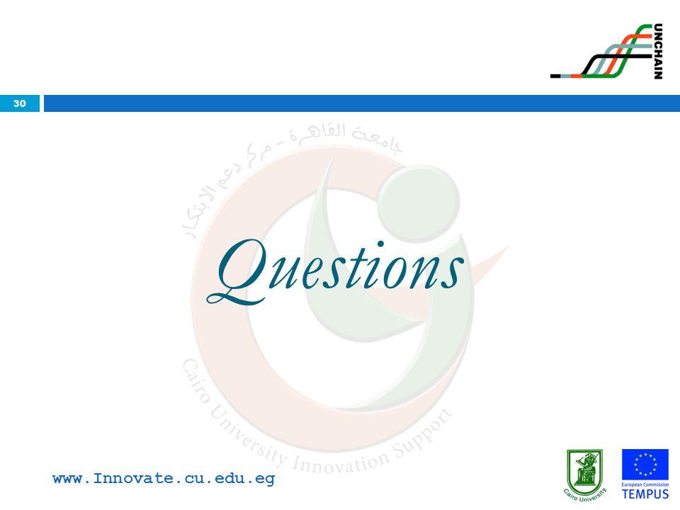Questions www.Innovate.cu.edu.eg