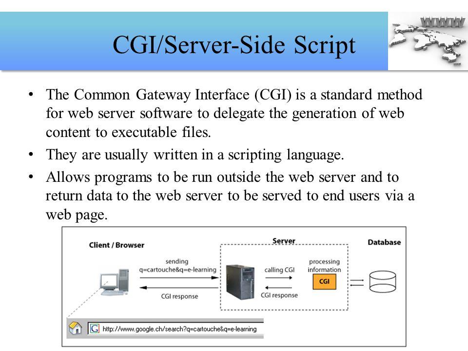 CGI/Server-Side Script