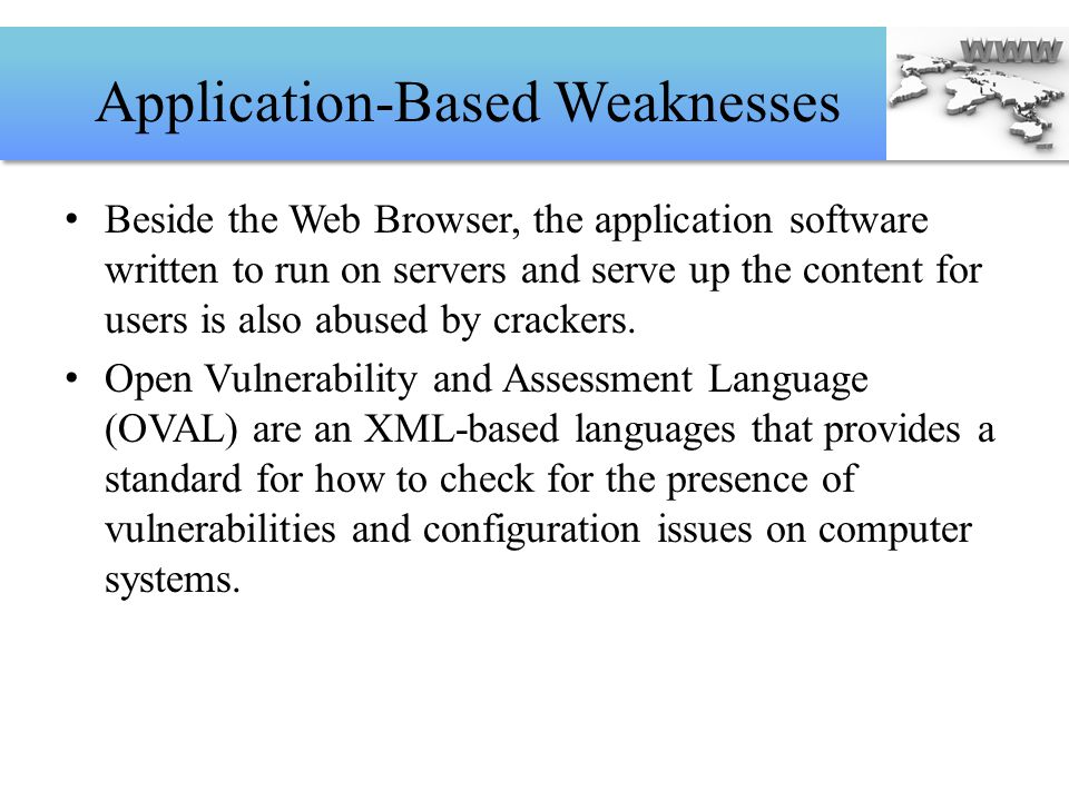 Application-Based Weaknesses